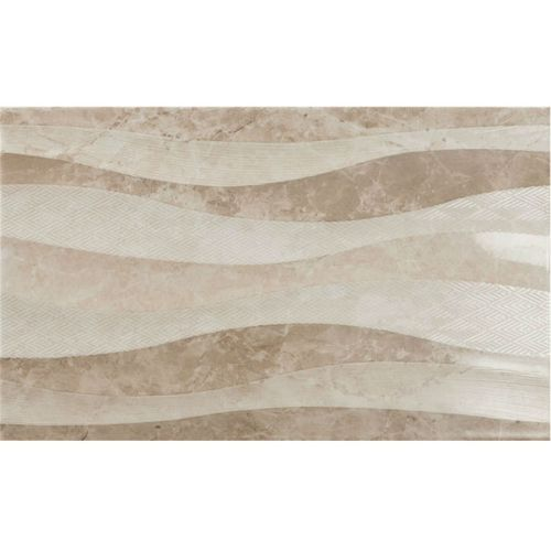 ΠΛΑΚΑΚΙ ΤΟΙΧΟΥ KARAG Decor ELEGANZA Waves Taupe 33,3 x 55 cm