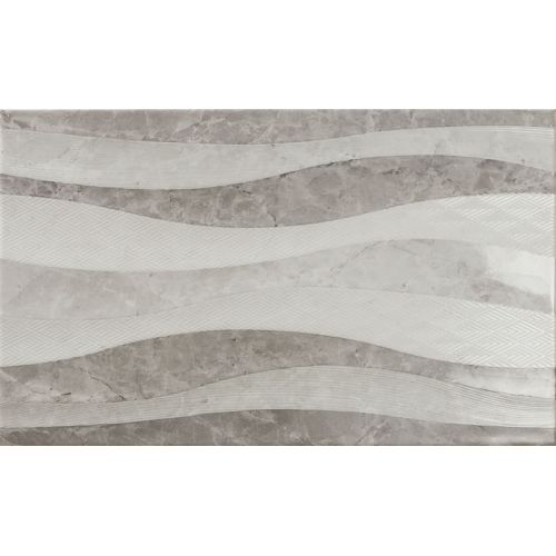 ΠΛΑΚΑΚΙ ΤΟΙΧΟΥ KARAG Decor ELEGANZA Waves Marengo 33,3 x 55 cm
