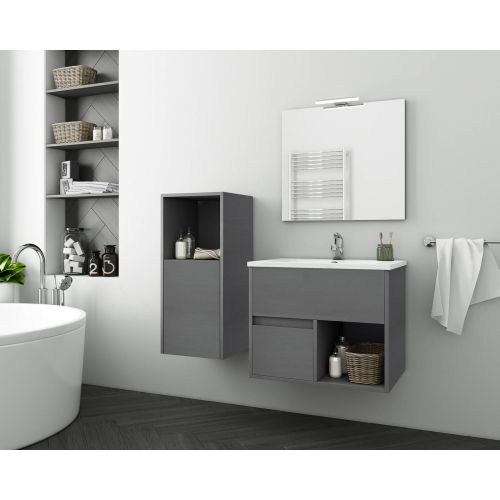 ΕΠΙΠΛΟ ΜΠΑΝΙΟΥ Set Drop SORENTO 65 Cement Wood Finish 65cm