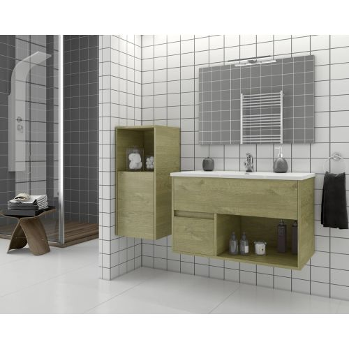 ΕΠΙΠΛΟ ΜΠΑΝΙΟΥ Set Drop SORENTO 85 Natural Wood Finish 85cm