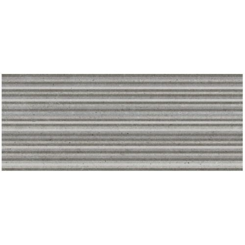 ΠΛΑΚΑΚΙ ΤΟΙΧΟΥ KARAG Decor Slot METROPOLI Grey 20x50 cm